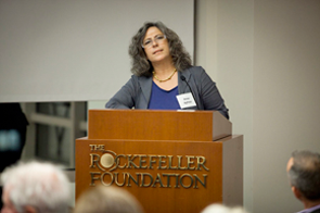 Anne speaking at the Rockefeller Foundation's Bellagio Center
