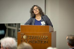 Anne speaking at the Rockefeller Foundation's Bellagio Center